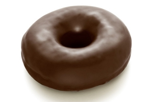 Fully Enrobed Real Chocolate Donut
